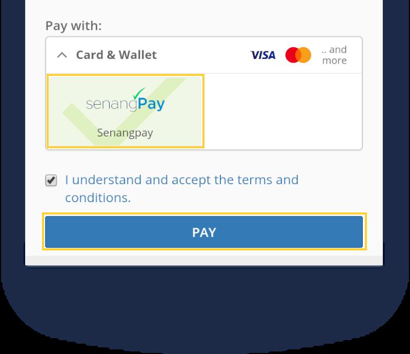 Select senangPay icon
