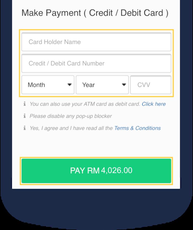 Debit Credit Card Details